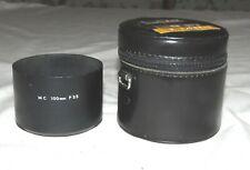 Minolta MC 100mm F2.5 Screw In Metal Lens Shade Hood - in Case
