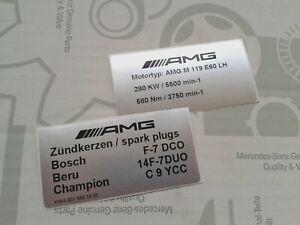 2 rare Mercedes-Benz AMG sticker 500E E500 6.0 E60 W124 M119.974