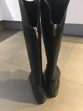 UNÜTZER Lederstiefel 899€ Stiefel 37,5 38 schwarz Reiterstiefel Leder Overknees