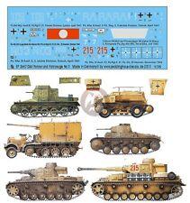 Peddinghaus 1/35 DAK Afrika Korps Tank & Vehicle Markings #3 (6 vehicles) 2667