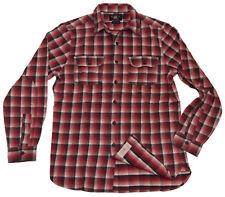 Polo Ralph Lauren Double RL RRL Mens Workshirt Shirt Plaid Grey Red Black Medium