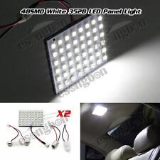 2) 48SMD LED 3528 SMD Car Interior Light Panel Bulb T10 Dome BA9S White