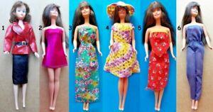 "1970s BARBIE 11"" mattel doll -- DRESS SKIRT SHOES SKI HAT STOCKINGS SUNGLASSES"