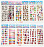 12 Sheets Children'S Perspective Stickers Cartoon Pvc Puffy Lot Of Kids Gift