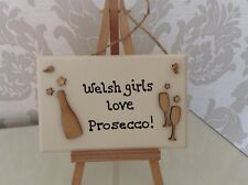 Prosecco Hanging Sign/ Birthday /Personalised Gift Handmade