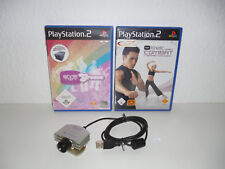 2 x PLAY STATION 2 SPIELE / EYE TOY GROOVE  U. KINETIC COMBAT + USB CAM / #53#