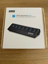 More details for anker 7-port usb 3.0 data hub 3 powered with uk power supply. new, sealed.
