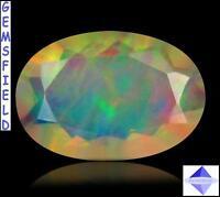 IF - 1.16ct !!! OPALE IRIDESCENTE d'ETHIOPIE ! mines d'opales de WELO poli AAA++