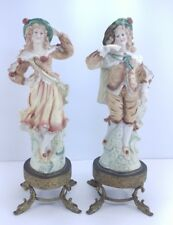 VINTAGE ANTIQUE FRENCH or GERMAN  LADY & MAN COUPLE BISQUE PAIR FIGURINE 1886