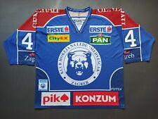 KHL MEDVESCAK Match Worn Jersey Shirt Europe Hockey Croatia WAUGH #44 2011/2012