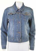 WRANGLER Womens Denim Jacket Size 12 Medium Blue Cotton  AN12
