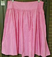 ISAAC MIZRAHI pink skirt size 12 A-line pleated side zipper knee length pre-own
