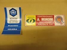 "Orig.Italian Lambretta/Vespa Dealer Stickers X 2"" MONDINI "" Arcisate N.O.S ULMA"