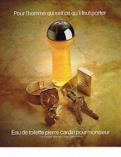 PUBLICITE ADVERTISING 054  1978  PIERRE CARDIN   eau de toilett pour homme