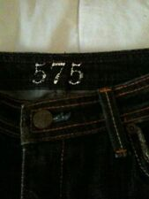 575 Women's Black Jeans Size 27 28 New From Los Angeles Straight Leg Long Model