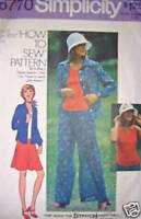 Vintage Simplicity Pattern Shirt Top Skirt Pants 10 SEWING