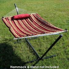 Sunnydaze Polyester Quilted Hammock Pad and Pillow Only Set - Awning Stripe