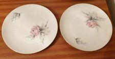 "Pair Of Beautiful Vintage Seltmann Weiden Bavarian Floral Fine China Plates 7"""