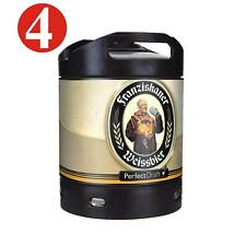 4X Franziskaner Weissbier Perfect Draft 6 Liter Barril 5,0% Vol. 4,64€/ LITRO
