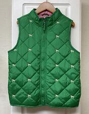 Girls M (7-8) GYMBOREE Smart Girls Rule Puppy Dog Green Puffer Vest ~Fall~