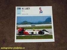 Ayrton SENNA (McLaren MP4/4) - card/Karte 14x14 cm