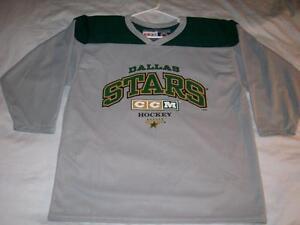 Dallas STARS NHL Hockey screen printed CCM Gray Jersey Men's Medium used