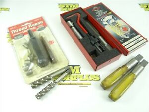 """HELICOIL & RECOIL THREAD REPAIR KITS +EXTRA TAPS 3/8""""-24NF & 5/8""""-11NC"""