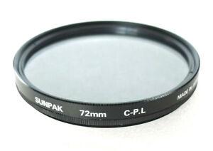72mm Sunpak C-PL Filter - Circular Polarizer - NEW