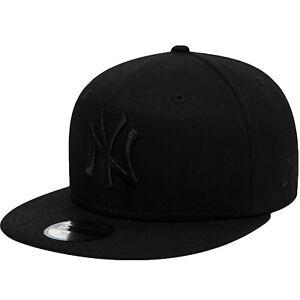 New Era Niños York Ny Yankees 9FIFTY MLB Gorra Béisbol - Todo Negro - 6-12 Años