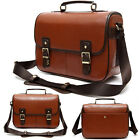 Waterproof PU Leather DSLR SLR Camera Shoulder Bag Padded Messenger Bag Handbag