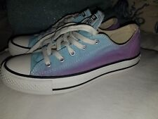 RARE Converse Women's Chuck Taylor All Star Ox Light Blue/ purple ombre 6