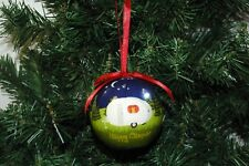 Happy Camper Light Up Round Ball Christmas Ornament