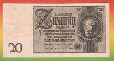 Selten: Probeandruck mit Wz zu Ro 174c 20 Reichsmark 1929