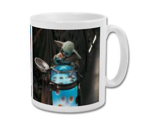 BABY YODA Eating Frog Eggs The Child Grogu Mandalorian Cute Coffee Mug Tea Cup
