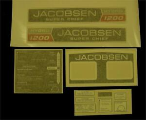 Jacobsen Super Chief 1200 Hydro Decal set.