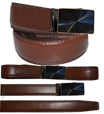 """Men's belt UP to 50"""" Genuine Leather Dress/Casual Belt Automatic lock New Buckle"""