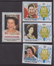 QEII Queen Elizabeth 60th Birthday 1986 MNH Stamp Set Tuvalu Nukufetau