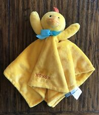 Honey Bunny Lovey Security Blanket Plush Duck Chick xoxo Yellow Orange Nunu