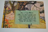 "Vintage 1926 Paper Artwork LOVE Poem ""All O' The While"" G L Salisbury Print Rare"