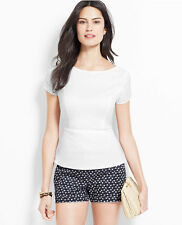 Ann Taylor - Black or White Criss-Cross Back Top $69.00 (T3)