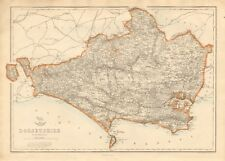 1863 Large Antique Map - Dispatch Atlas- Dorsetshire