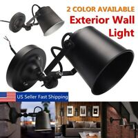 Industrial Retro Adjustable Swing Arm Lamp E27 Wall Mount Fixture Sconce  US