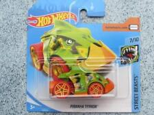 Hot Wheels 2018 #114/365 Piranha Terror Verde sobre naranja Street Beasts