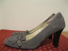 Women's SPIEGEL Gray Suede Leather High Heel Slip On Pumps Shoes Size 9 1/2M