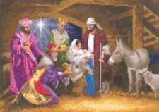 Heritage Crafts John Clayton Collection Nativity - Christmas Cross Stitch Kit
