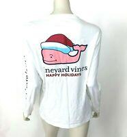 Vineyard Vines Graphic Pocket Tee Shirt Santa Whale Long Sleeve Top Women XS