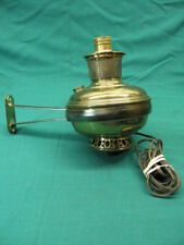 Wall Mount ALADDIN NO 12 BRASS OIL LAMP CONVERTED TO ELECTRIC WALL LAMP