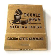 """Double Down Saloon & Casino"" Full Matchbook La Center washington (S)"