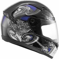 Gloss Fibreglass Full Face Motorcycle Vehicle Helmets