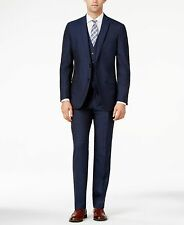 Bar III Slim Fit Mens Wool Suit - Midnight Blue -- 42s short  38x30 (no vest)